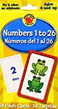 Numbers 1 To 26 / Numeros del 1 al 26 (Brighter Child Flash Cards)