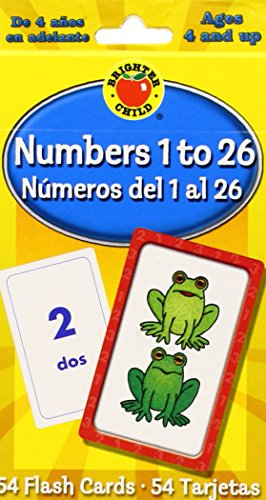 Numbers 1 to 26 Flash Cards, Grades PK - 3: Numeros del 1 al 26 (Brighter Child Flash Cards) (Spanish Number Flash Cards compare prices)