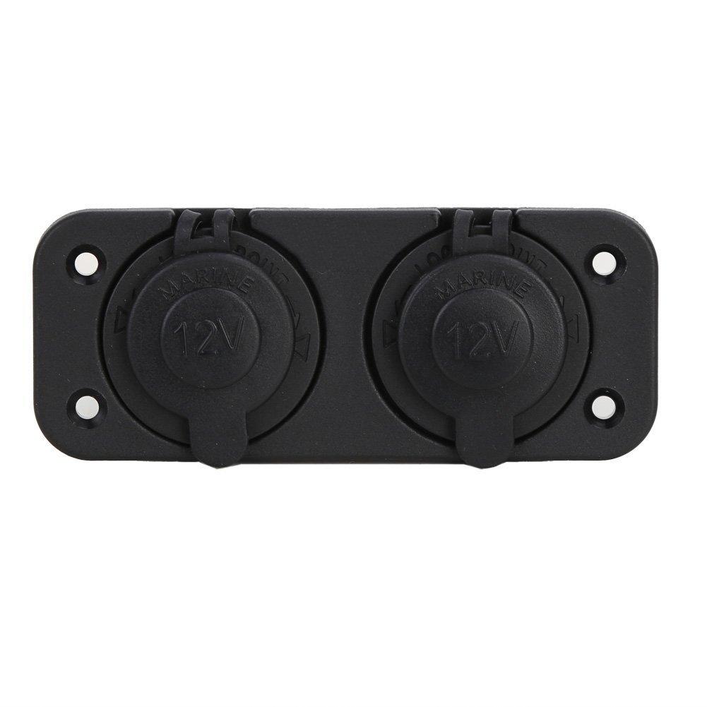 ovvok Zigarettenanz/ünder-Buchsen 12-24 V Gleichstrom. zwei Steckdosen duale USB-Auto-Ladeadapter