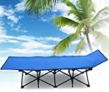F&D Portable Folding Camping Cot Beach Bed Military...