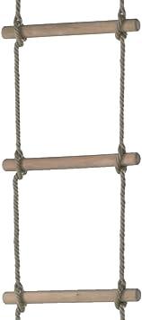 WICKEY Escalera de cuerda 6 peldaños heavy, gimnasia para ...