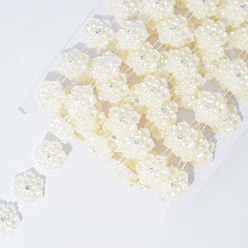 Minerva Crafts 20mm Pearl Diamante Daisy Trim Ivory - per 4.5 metre roll