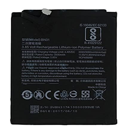 RJR BN31 3000 mAh-3080 mAh Battery for Xiaomi Redmi Y1