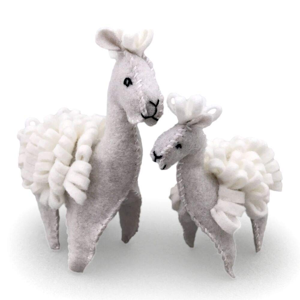 Heidi Boyd | Alpacas | Whimsy Kits | Enjoy Creating Mama and Baby Alpaca Family with This All Inclusive Felt Craft Sewing Kit Age 13+