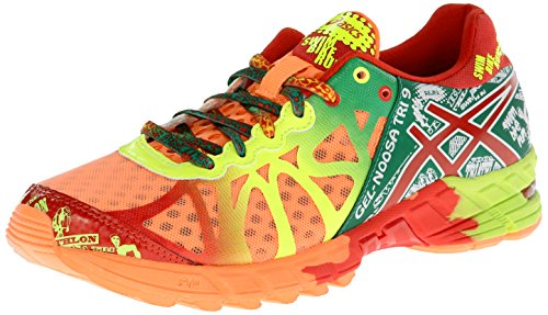 ASICS Women's Gel-Noosa Tri 9 Running Shoe,Bright Orange/Red Pepper/Flash Yellow,5 M US