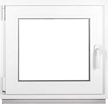 Kellerfenster PVC wei/ß BxH:50x40 cm DIN Rechts - Fenster Kunststoff Premium ALLE GR/Ö/ßEN Dreh-Kipp 2 fach Verglasung