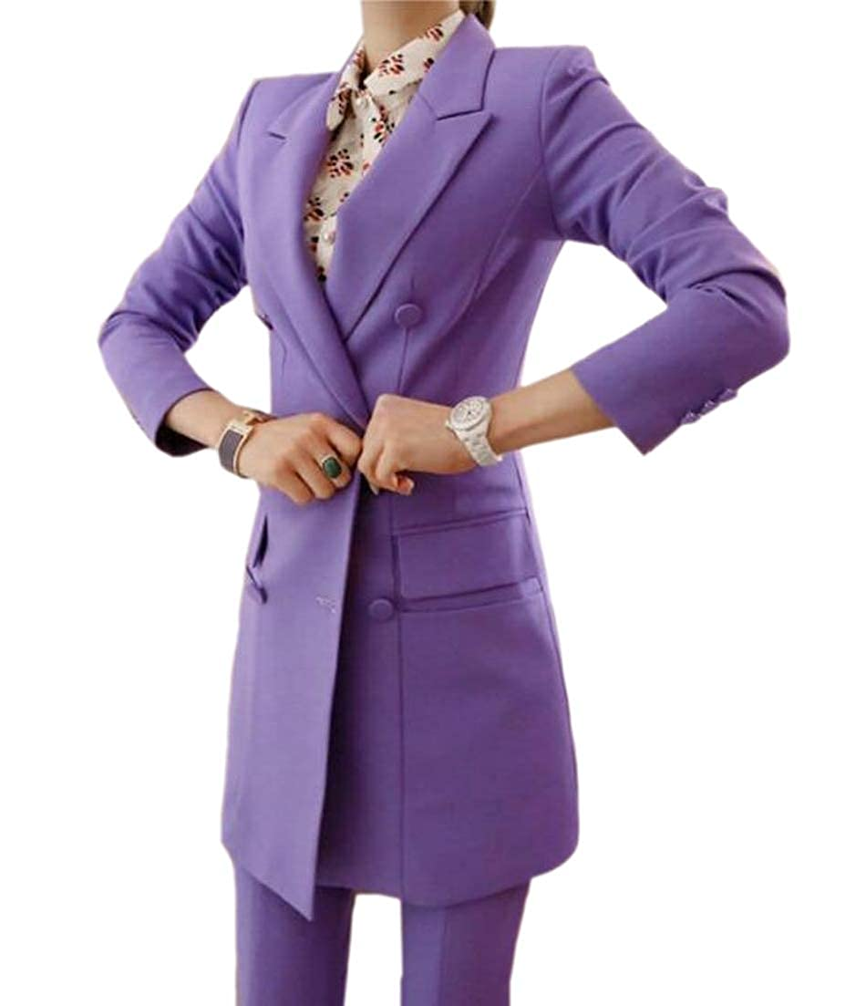 Sconosciuto Completo Elegante da Donna a Maniche Lunghe con Pantaloni.