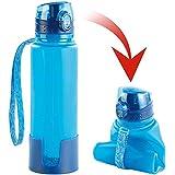 Semptec Urban Survival Technology Silikon Flasche: Faltbare Silikon-Trinkflasche, 650 ml, lebensmittelecht, BPA-frei (Flexible Trinkflasche)
