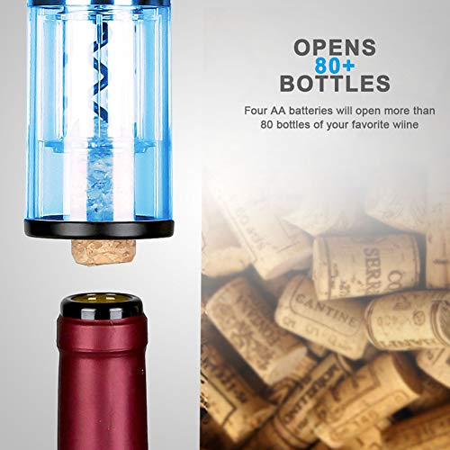 Secura Electric Bottle 4A Battery Powered Wine Opener with Foil Cutter, Stainless Steel, Cordless (Silver) by Secura (Image #4)