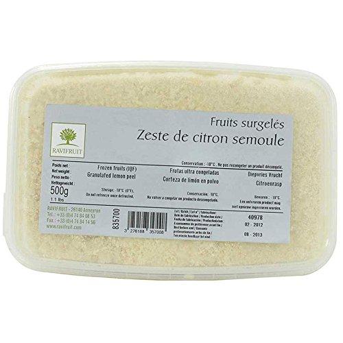 Lemon Zest, Frozen - 1 tub - 1.1 lb by Ravifruit (Image #1)