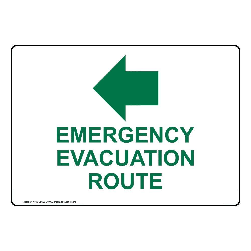 compliancesigns plástico ruta de evacuación de emergencia ...