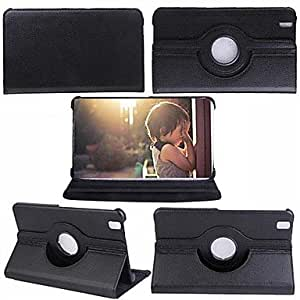SHERRYLEE NewestRotating PU Leather Stand Case for Samsung Galaxy Tab Pro 8.4 T320 , Black