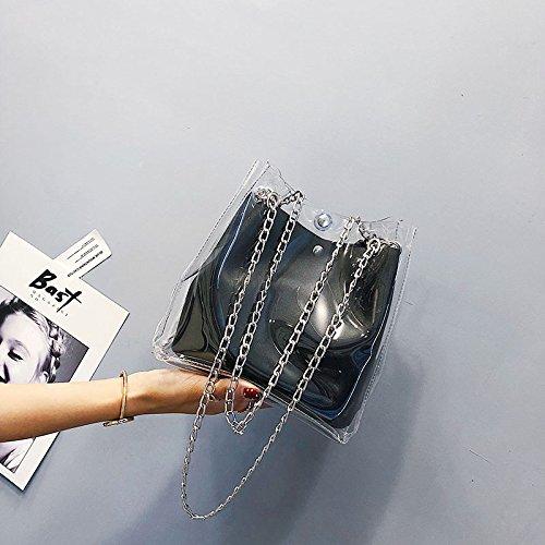 en pour tout composite plastique femmes les seau Fourre Noir chaine sacs a a Petits Noir de SODIAL Mini sacs a main femmes gelee transparents Sac pour PZwq8gIvx