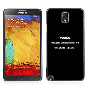 Designer Depo Hard Protection Case for Samsung Galaxy Note 3 N9000 / Cool Vodka Sign