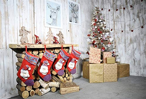 GoHeBe 10X10ft Christmas Photography Background Decoration Firewood Studio Backdrop JLT10275 NO Include The Stand !