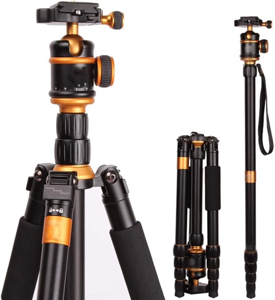 Photography Tripod with 360 Degree Ball Head 1//4 Aluminum Quick Release Plate Professional Tripod Load up to 8KG Lightweight Aluminum Camera Tripod for EAHKGmh Tripod
