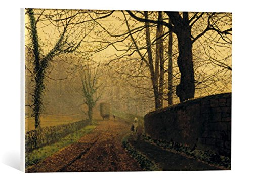 kunst für alle Canvas Print: John Atkinson Grimshaw Stapleton Park Near Pontrefact Leeds Fine Art Print, Canvas on Stretcher, Ready to Hang Wall Picture, 23.6x15.7 inch / 60x40 cm