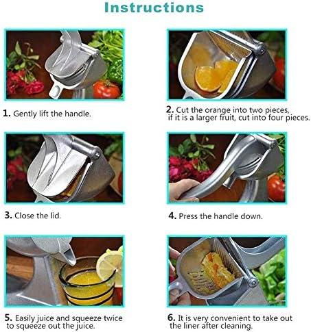 fangzhuo Exprimidor Manual Herramientas De Cocina Exprimidor Exprimidor Manual Lima Zanahorias Aleación De Aluminio Prensado Inicio Viaje Naranja Limón