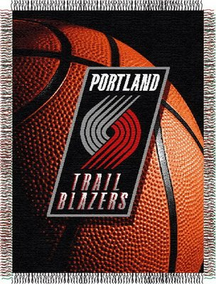 Officially Licensed NBA Portland Trail Blazers Photo Real Woven Tapestry Throw Blanket, 48