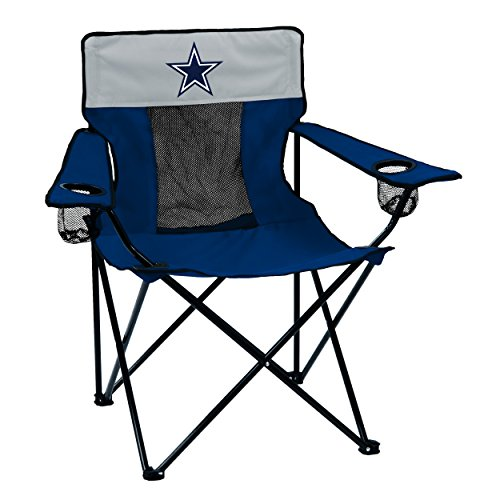 Logo Brands NFL Dallas Cowboys Folding Elite Chair with Mesh Back and Carry Bag, Navy, One Size - Dallas Cowboys Store