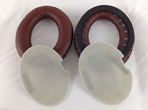 Coffee Brown Replacement Earpad Ear Pad Cushions with gasket for Limited Edition Bose Quietcomfort 2 QC2, Quietcomfort 15 QC15, Quietcomfort 25 QC25 Headphones