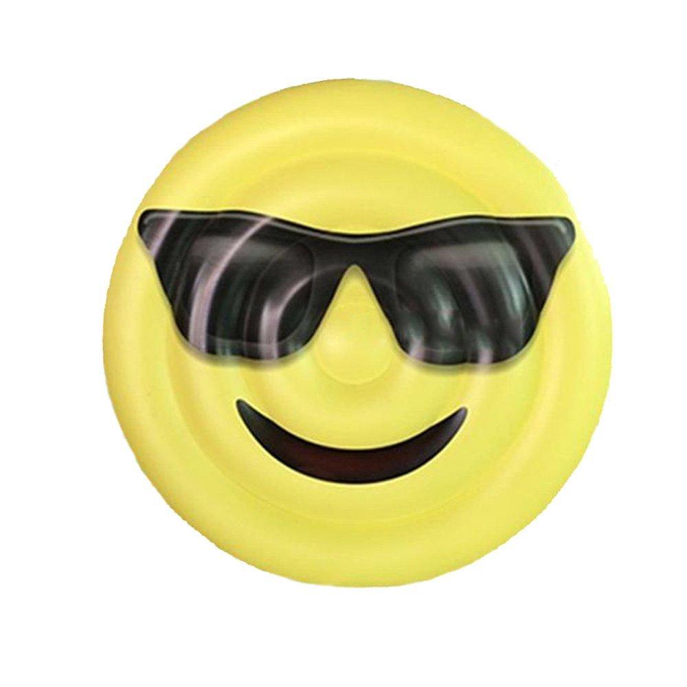 Emoji-Sonnenbrille-Ausdruck-sich hin- und herbewegende Reihe Lächeln ...