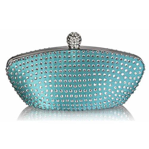 EMERALD Night Out CRYSTAL Bag For Women's Pary Sparkly Purse Clutch Prom CWE00286 CLUTCH Evening LeahWard z74qT8