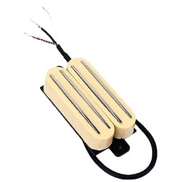Homyl 2 Piezas de Cerámica Imán Pastillas Humbucker para Guitarra Eléctrica Pastillas para Guitarras - Crema, 87x37x19 mm: Amazon.es: Instrumentos musicales