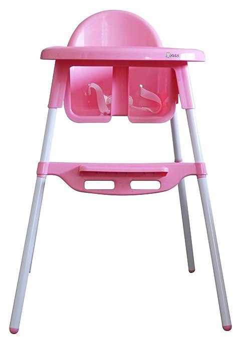 Kidzi - Trona 2 en 1 Hi-Lo (KI 520) rosa rosa: Amazon.es: Bebé