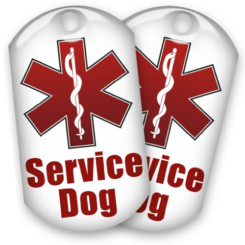 - barkOutfitters 2 Service Dog ID Tags - 1
