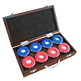Carmelli NG1223 Shuffleboard Pucks in Wooden Box,