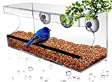 CRYSTAL CLEAR BIRD FEEDER - Suction Window Feeders Birds, Cats and Kids Love - Easy Clean and Fill - See Cardinals, Finches and Orioles Feed Inches From Kitchen Windows - FREE BONUS 7 EBOOK BUNDLE