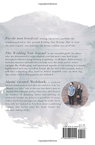 Wedding Vow Journal: Your guide to writing the most original, tear ...