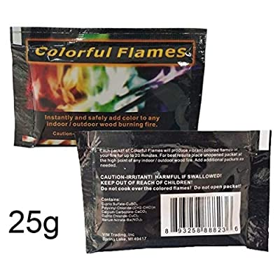 YENJO Multicolor Flame Powder Flame Dyeing Outdoor Bonfire Party Supplies Magic Kits & Accessories: Clothing