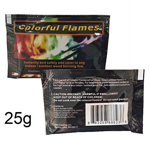 TelDen 25g Multicolor Flame Powder Flame Dyeing Outdoor Bonfire Party - 25g Packet