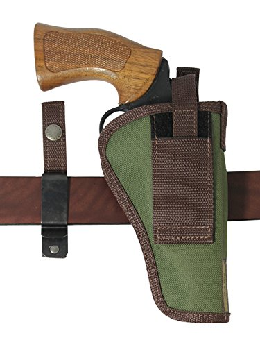 Barsony New Woodland Green Ambidextrous 360Carry 12 Option Holster for COLT Official Police (Colt Official Police)