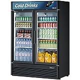 Turbo Air TGM-47SD Glass Swing Door Two Section Reach-In Merchandiser Refrigerator