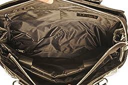 ''The Westlake'' Burgundy & Black Alligator Computer iPad, Laptop Tablet Rolling Tote Bag Briefcase Carryall Bag