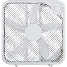 "3 Speed High Airflow 20"" Box Fan, (White)"