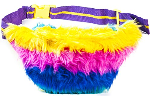 Funny Guy Mugs Bright Lights Rainbow Fur Fanny Pack