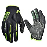 Black Green Gloves Cycling Gloves Mountain Bike Gloves Road Racing Bicycle Gloves Motorcycle Gloves Full Finger Gloves Thor ghostcrawler Gloves Men/Women Work Gloves(XL Size)