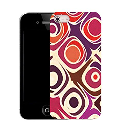 Mobile Case Mate IPhone 4 clip on Silicone Coque couverture case cover Pare-chocs + STYLET - cylinder pattern (SILICON)