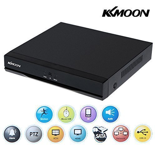 KKmoon 8 Channel 960H D1 CCTV Network Mobile Motion Detection DVR H.264 HDMI Video Recorder Playback for Surveillance Security Monitoring - Digital Motion Detection Video Recorder