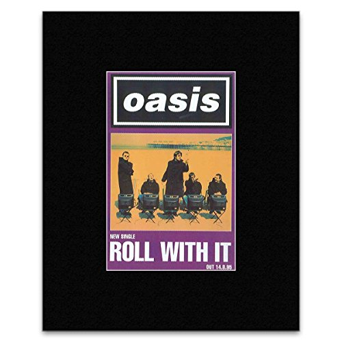 Oasis   Roll With It Mini Poster   16 6X10 9Cm