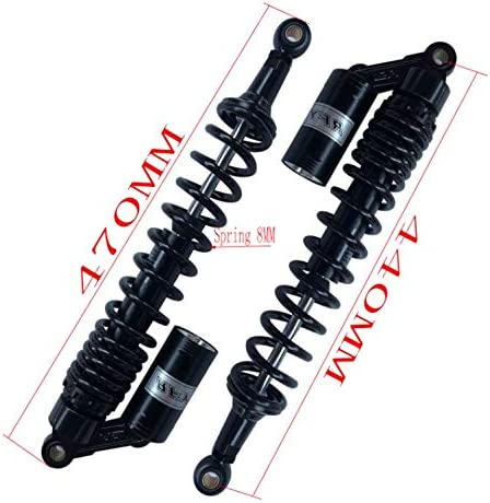 black RFY 1 pair 8mm spring 440MM motorcycle shock absorbers suspension for Quad ATV