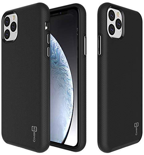 CoverON Slim Protective Hybrid Rugged Series for iPhone 11 Pro Max Case (2019), Black