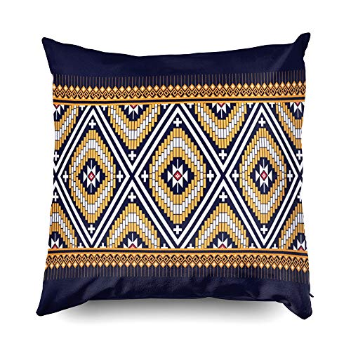 (Hug Pillow Covers,Shorping Zippered Covers Pillowcases 18x18 pillow cover Throw Pillow Covers Geometric ethnic pattern traditional Design for background carpet wallpaper clothing wrapping Batik for H)