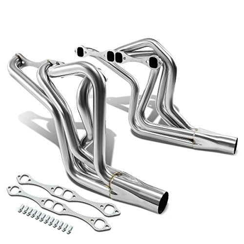 For Chevy Small Block 2x4-1 Design Stainless Steel Exhaust Header Kit T1 (Polished Chrome) 267-400 V8 ()