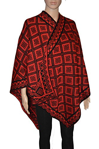 Taboo fashion clothing - Poncho - capa - para mujer Rosso