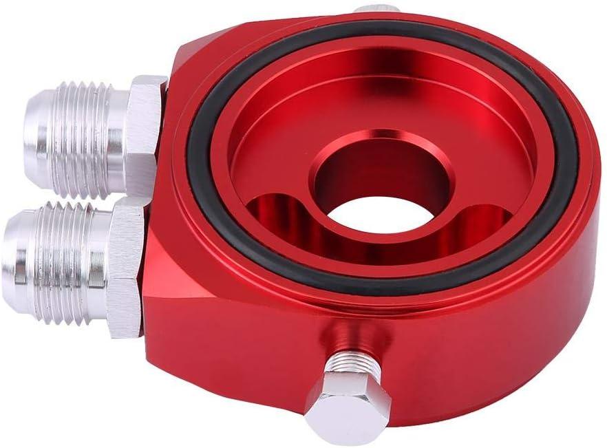 Oil Filter Sandwich Plate M20 x 1.5 Aluminum Oil Filter Cooler Sandwich Plate Adapter 1//8 NPT Oil Cooler Kit black